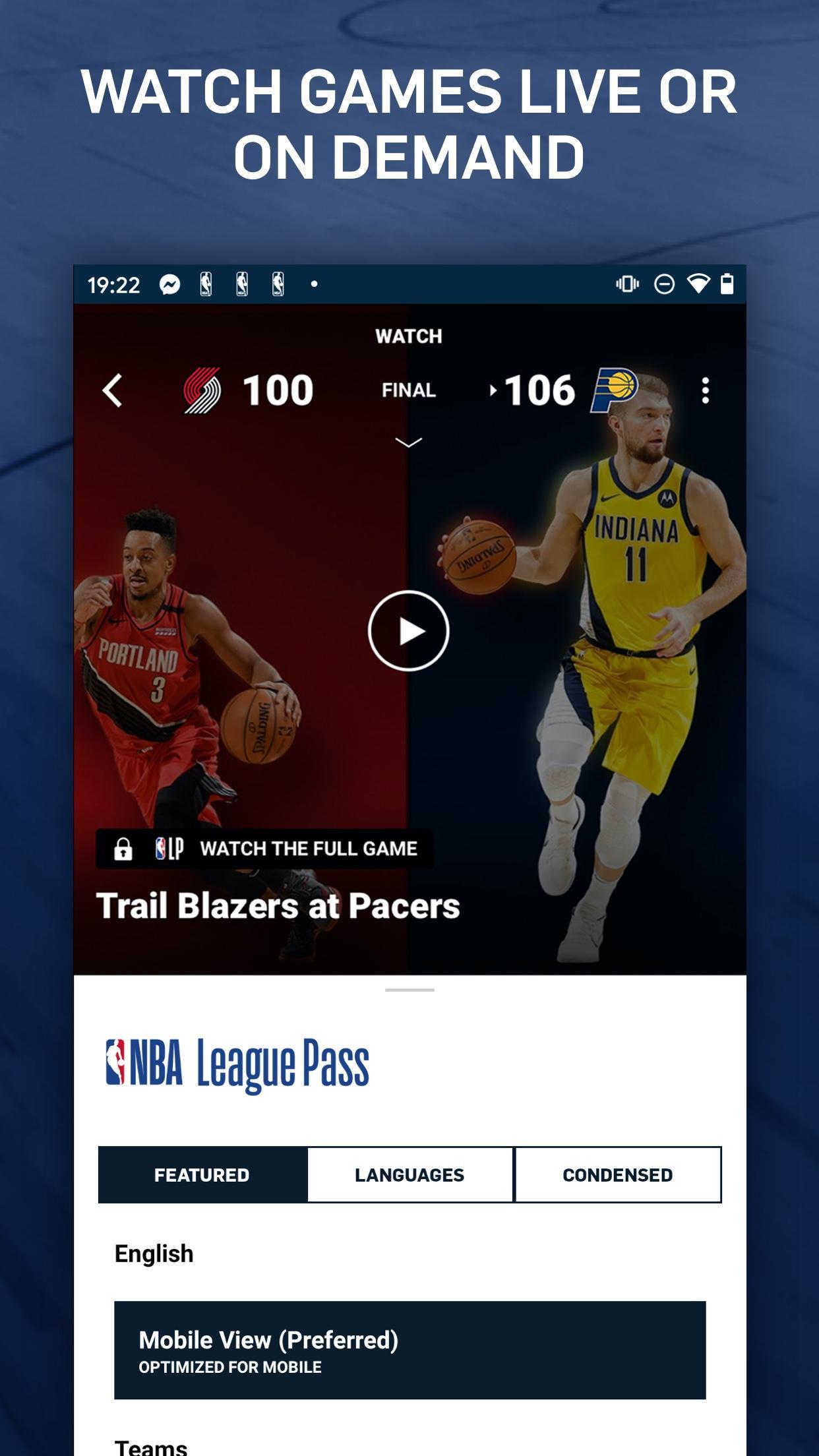 NBA Live Games & Scores 10.1103 Screenshot 3