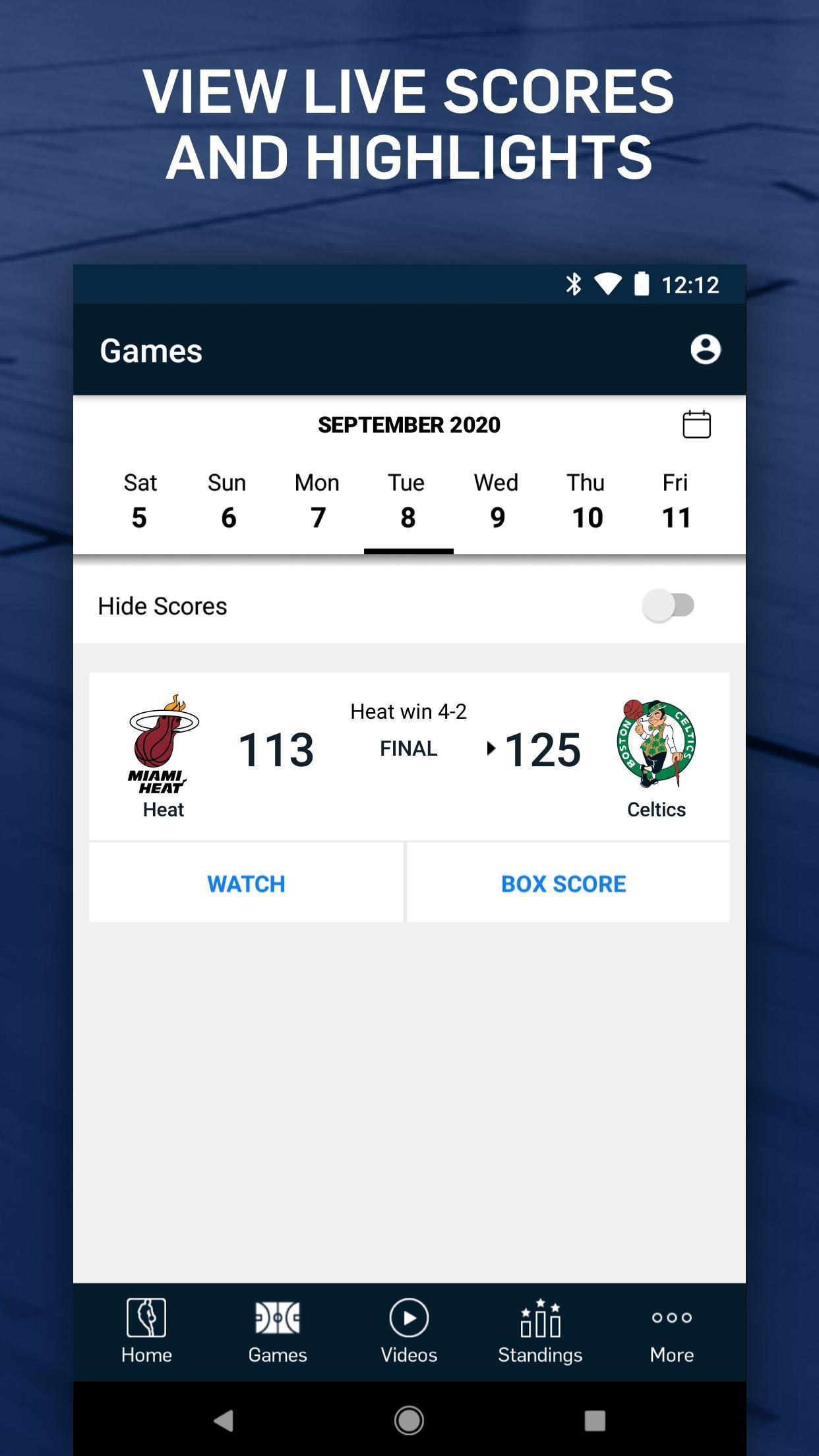 NBA Live Games & Scores 10.1103 Screenshot 5