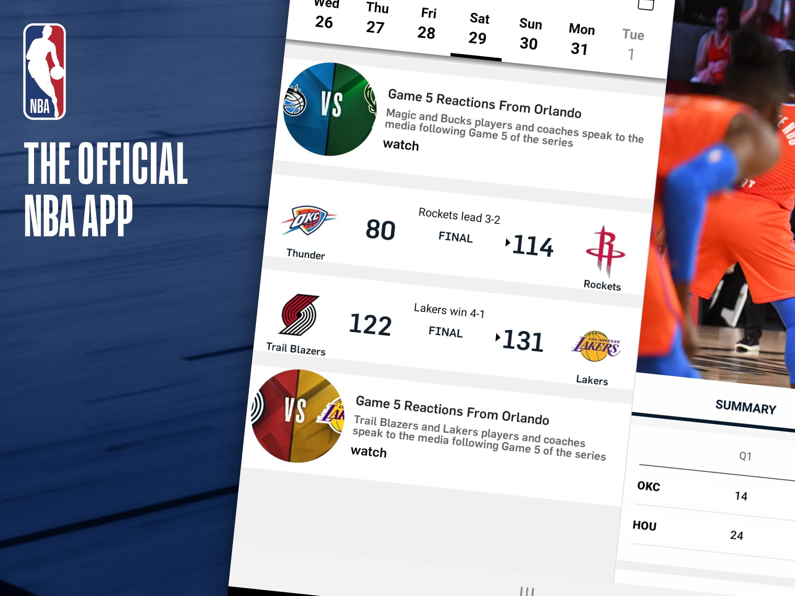 NBA Live Games & Scores 10.1103 Screenshot 7