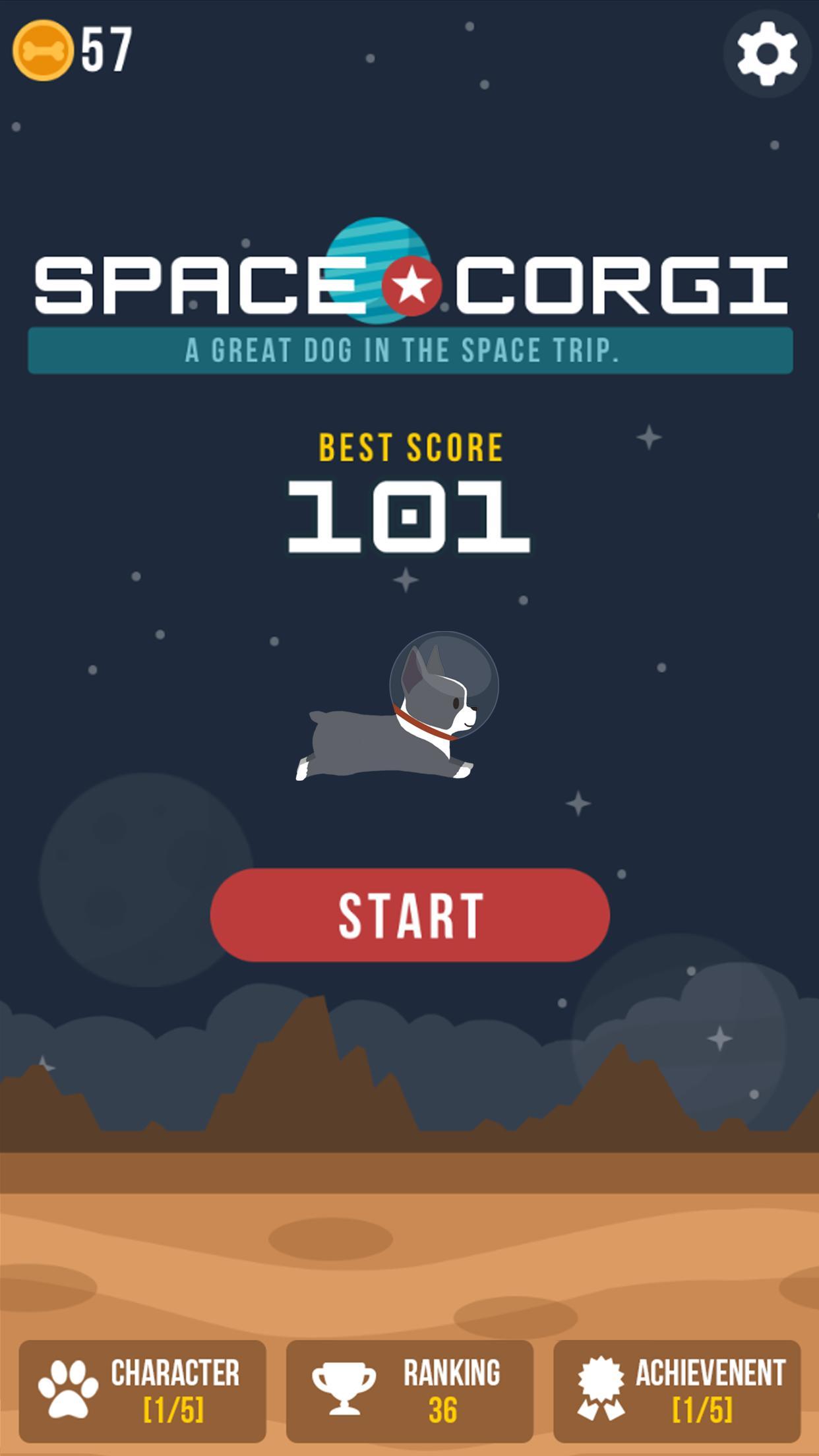 Space Corgi Dog jumping space travel game 27 Screenshot 1