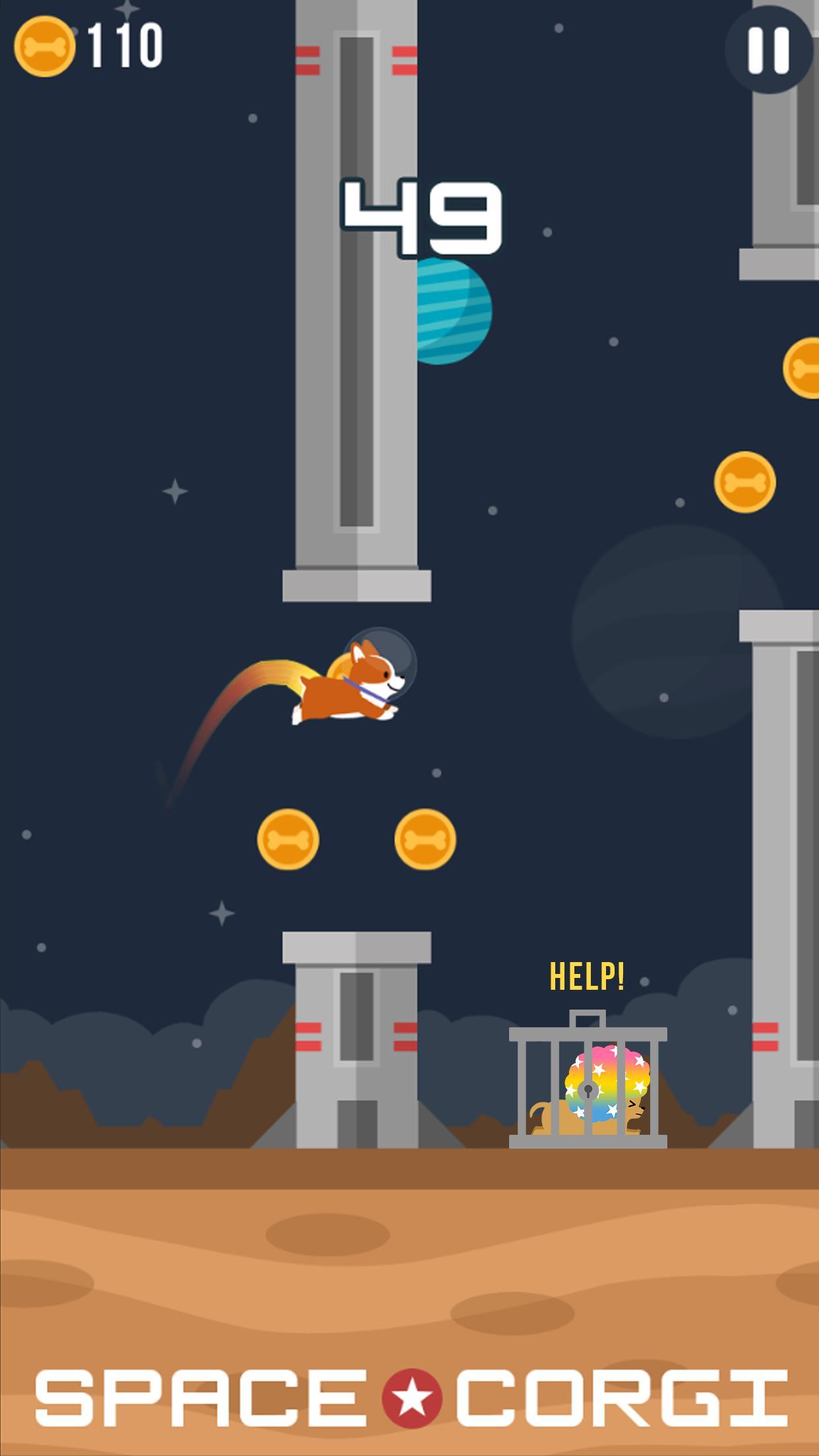 Space Corgi Dog jumping space travel game 27 Screenshot 3