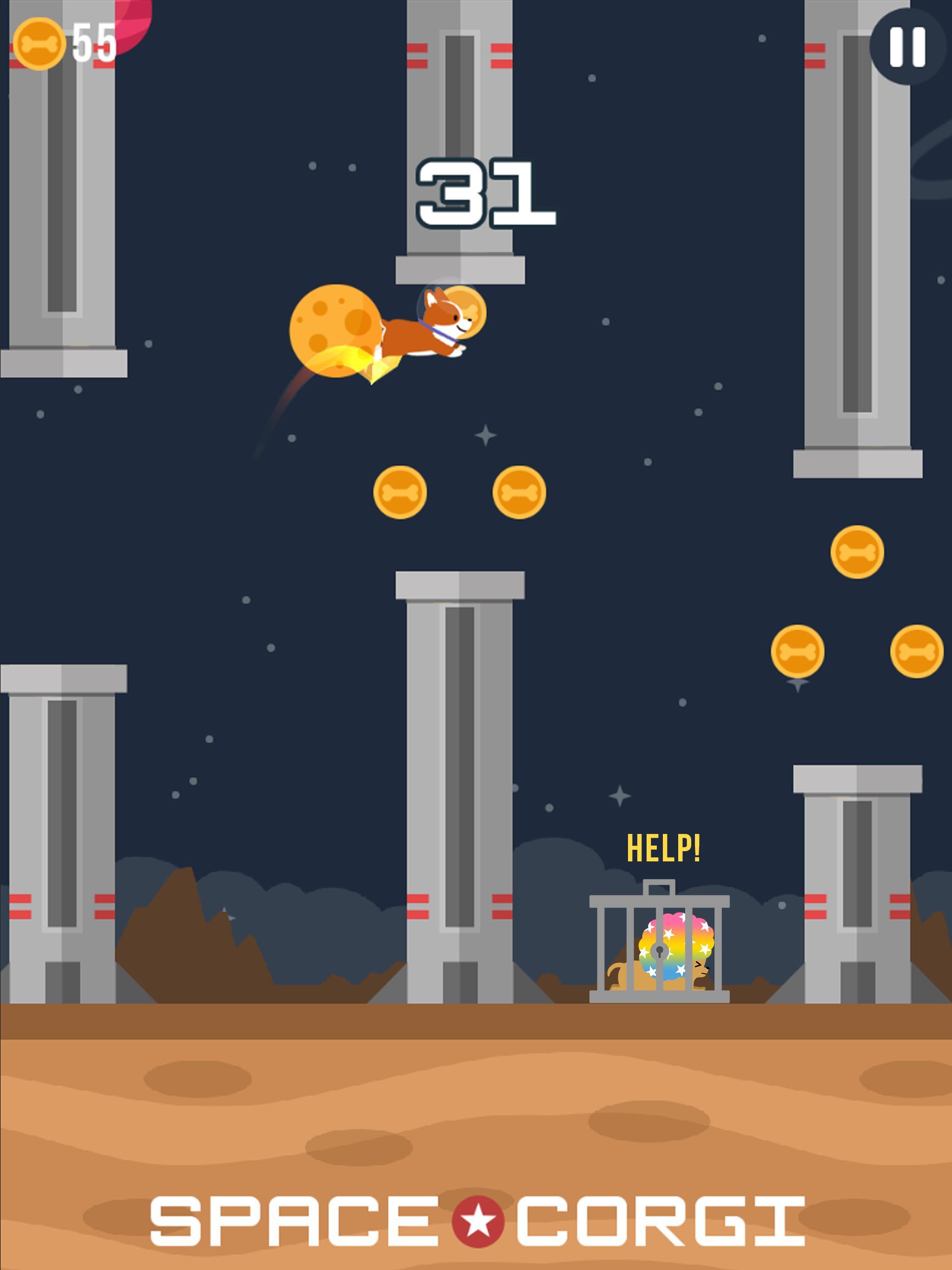Space Corgi Dog jumping space travel game 27 Screenshot 7