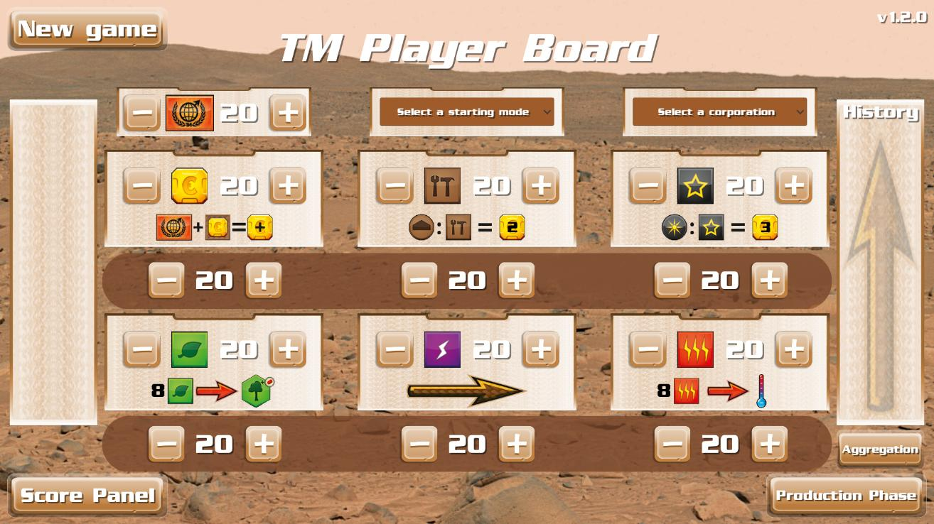 TM - Player Board Free 2.3.1 Screenshot 1