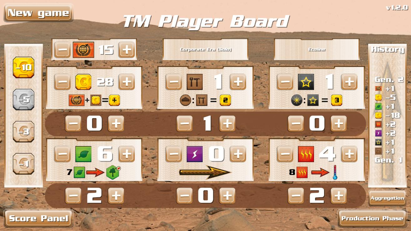 TM - Player Board Free 2.3.1 Screenshot 2