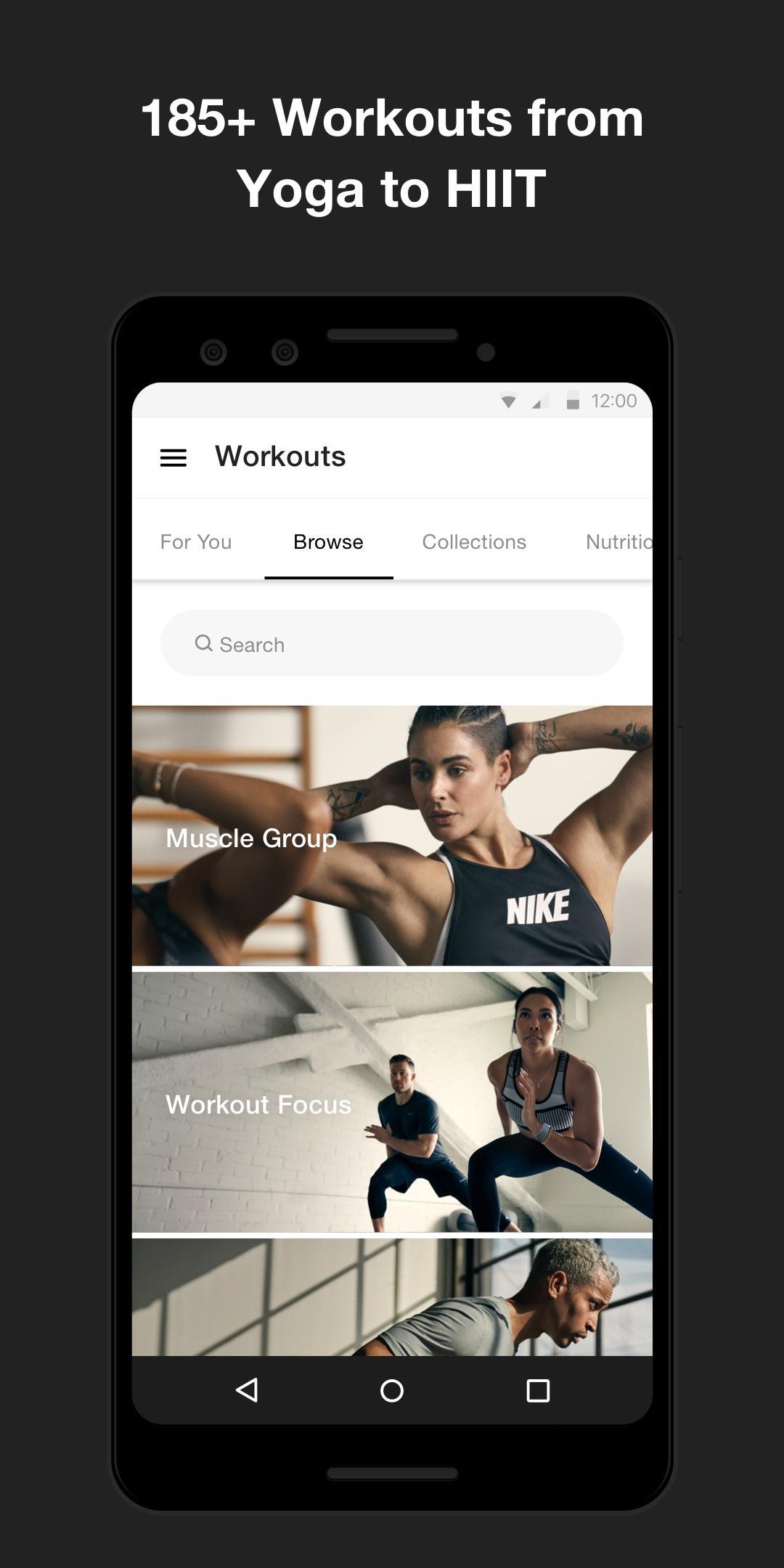 Nike Training Club - Home workouts & fitness plans 6.22.0 Screenshot 3