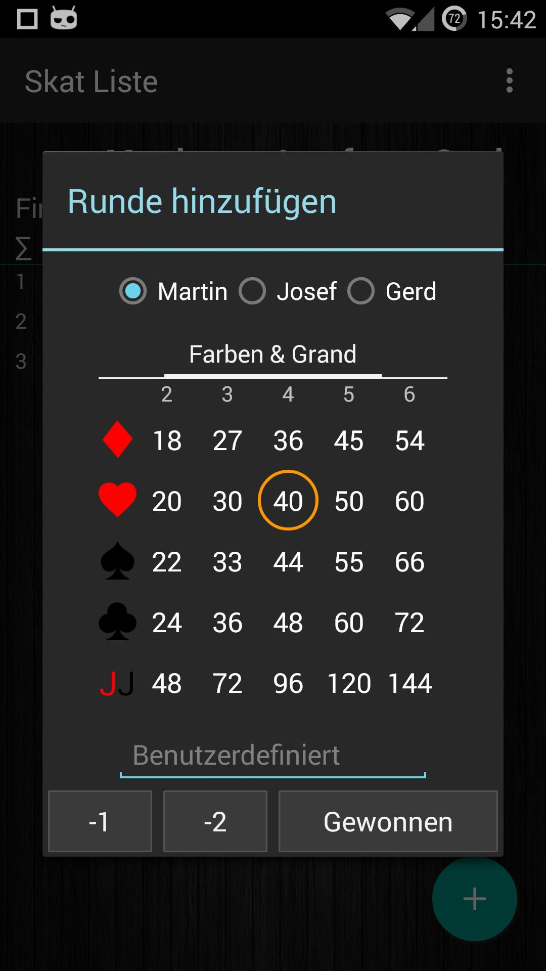 Skat Scorer screenshot