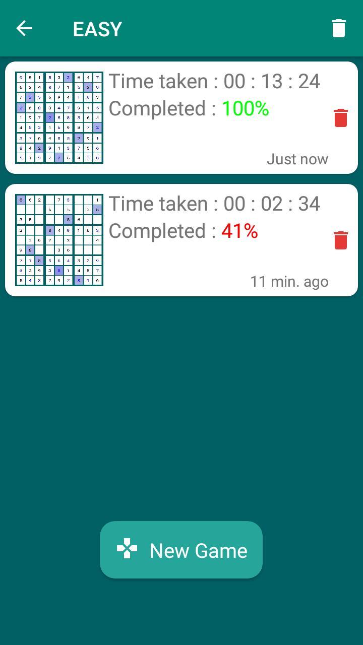 Sudoku Unlimited 1.7.1 Screenshot 2