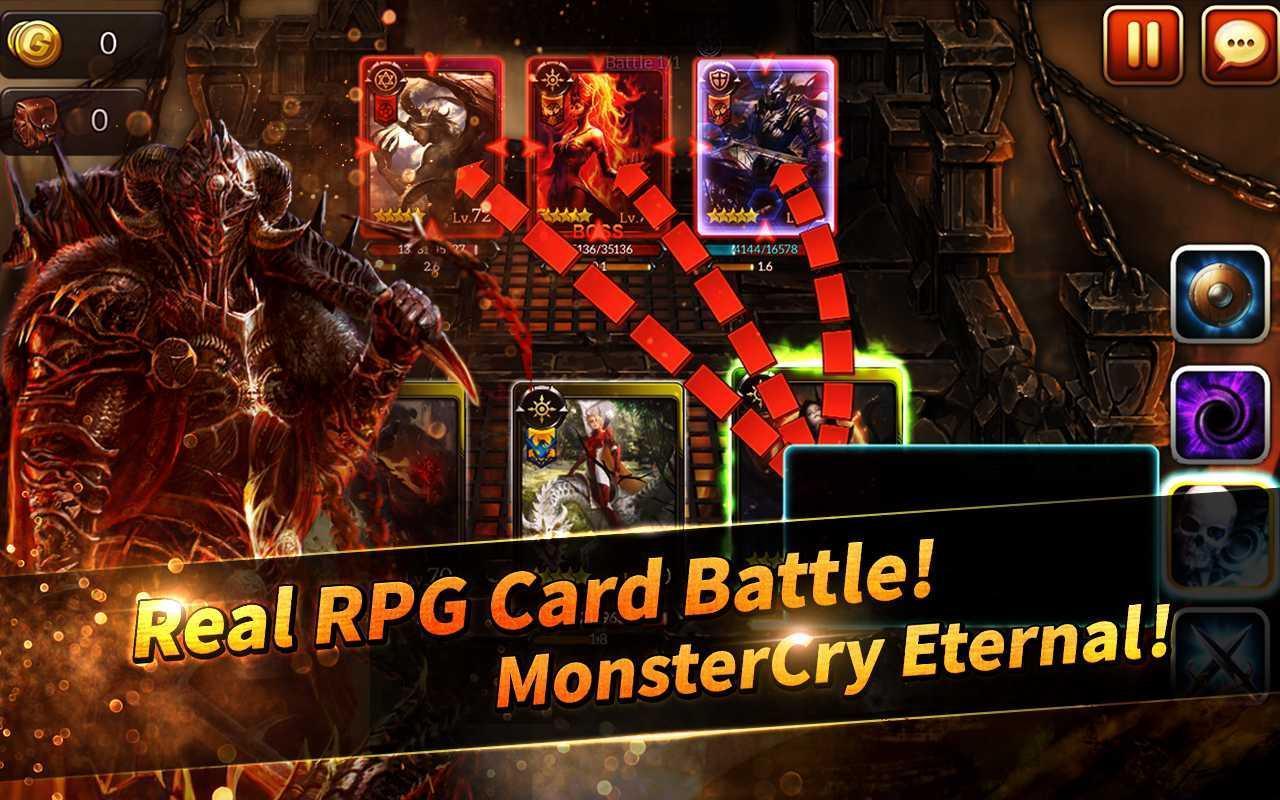MonsterCry Eternal - Card Battle RPG 1.1.2.1 Screenshot 1