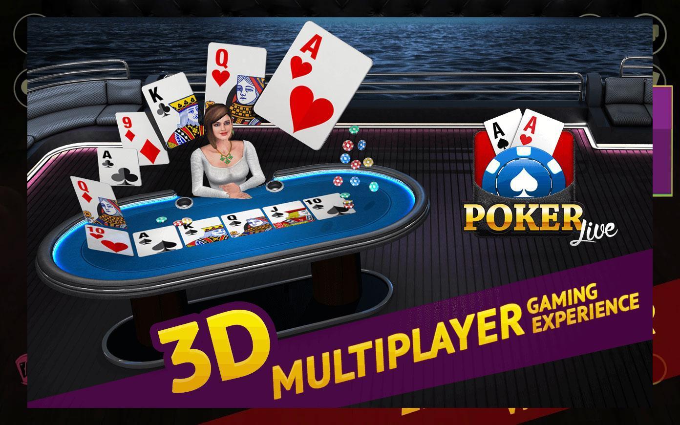 Poker Live! 3D Texas Hold'em 1.9.0 Screenshot 1