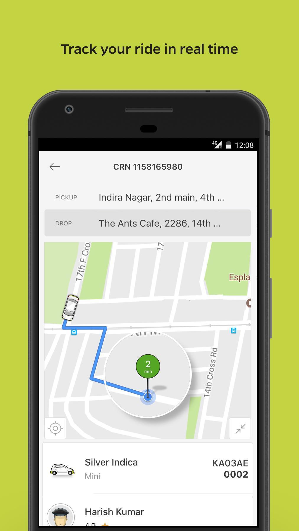 Ola Lite Lighter Faster Ola App. Book Taxi & Cabs 3.1 Screenshot 3