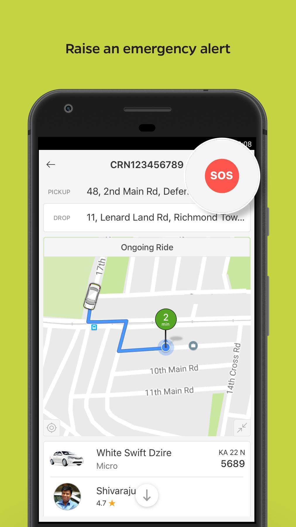 Ola Lite Lighter Faster Ola App. Book Taxi & Cabs 3.1 Screenshot 7