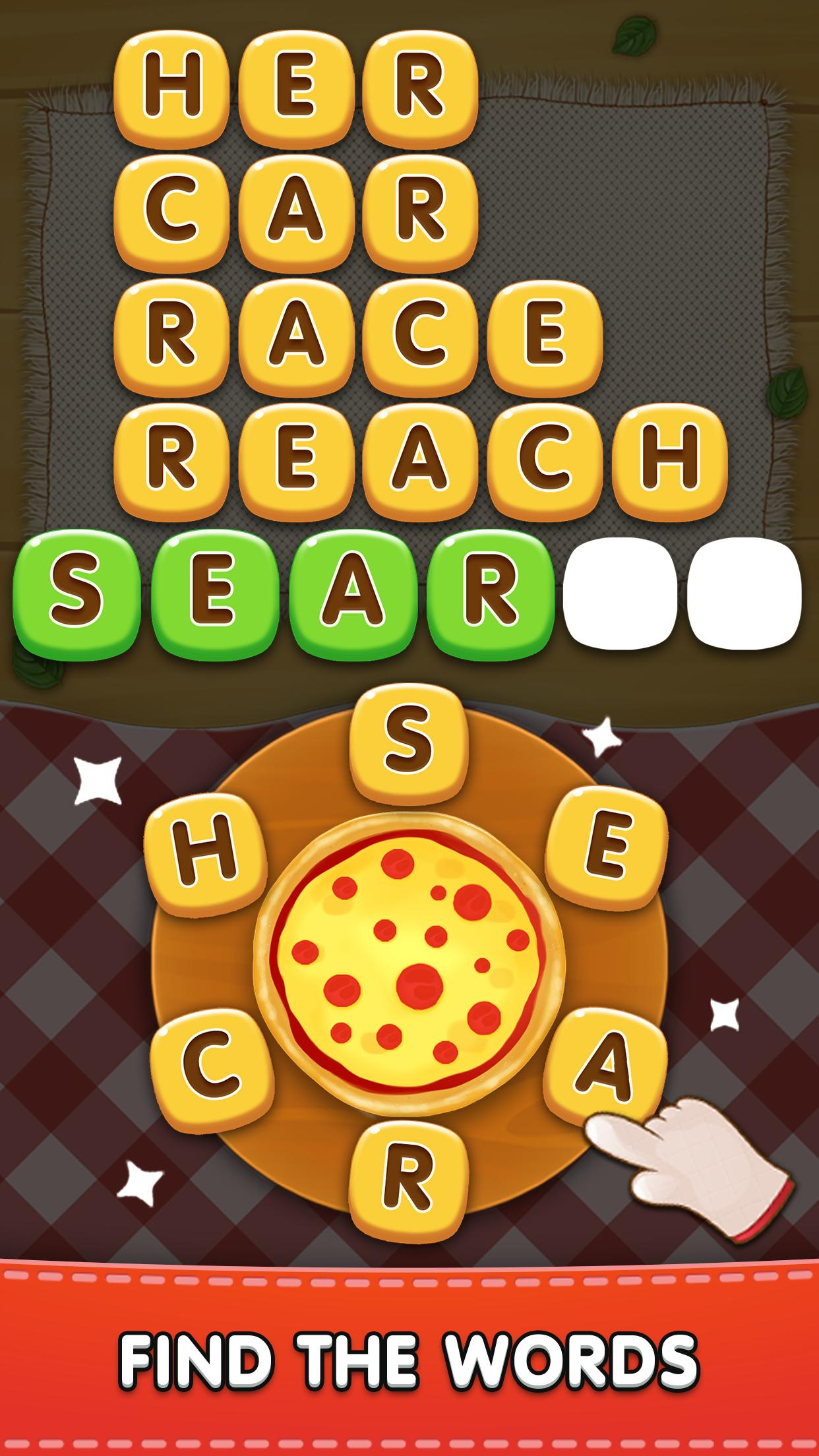 Word Pizza Word Games Puzzles 2.2.11 Screenshot 1