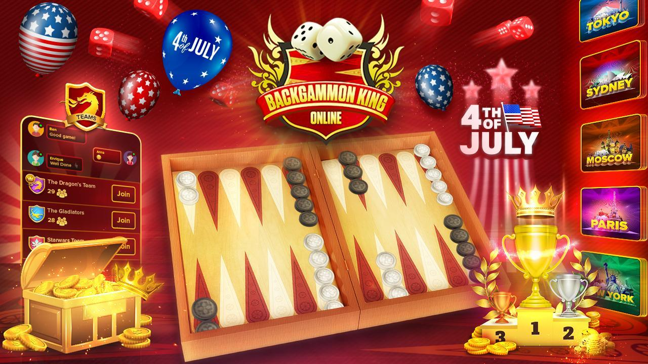 Backgammon King Online 🎲 Free Social Board Game 2.10.5 Screenshot 1