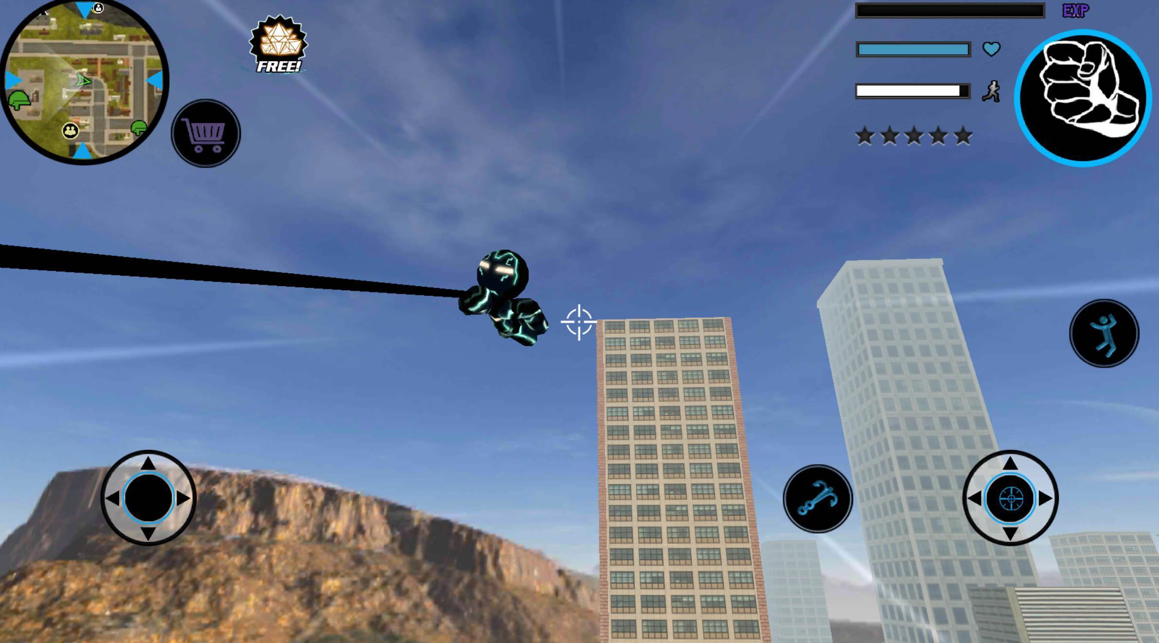 Neon Iron Stickman Rope Hero City Gangstar Mafia 1.6 Screenshot 3