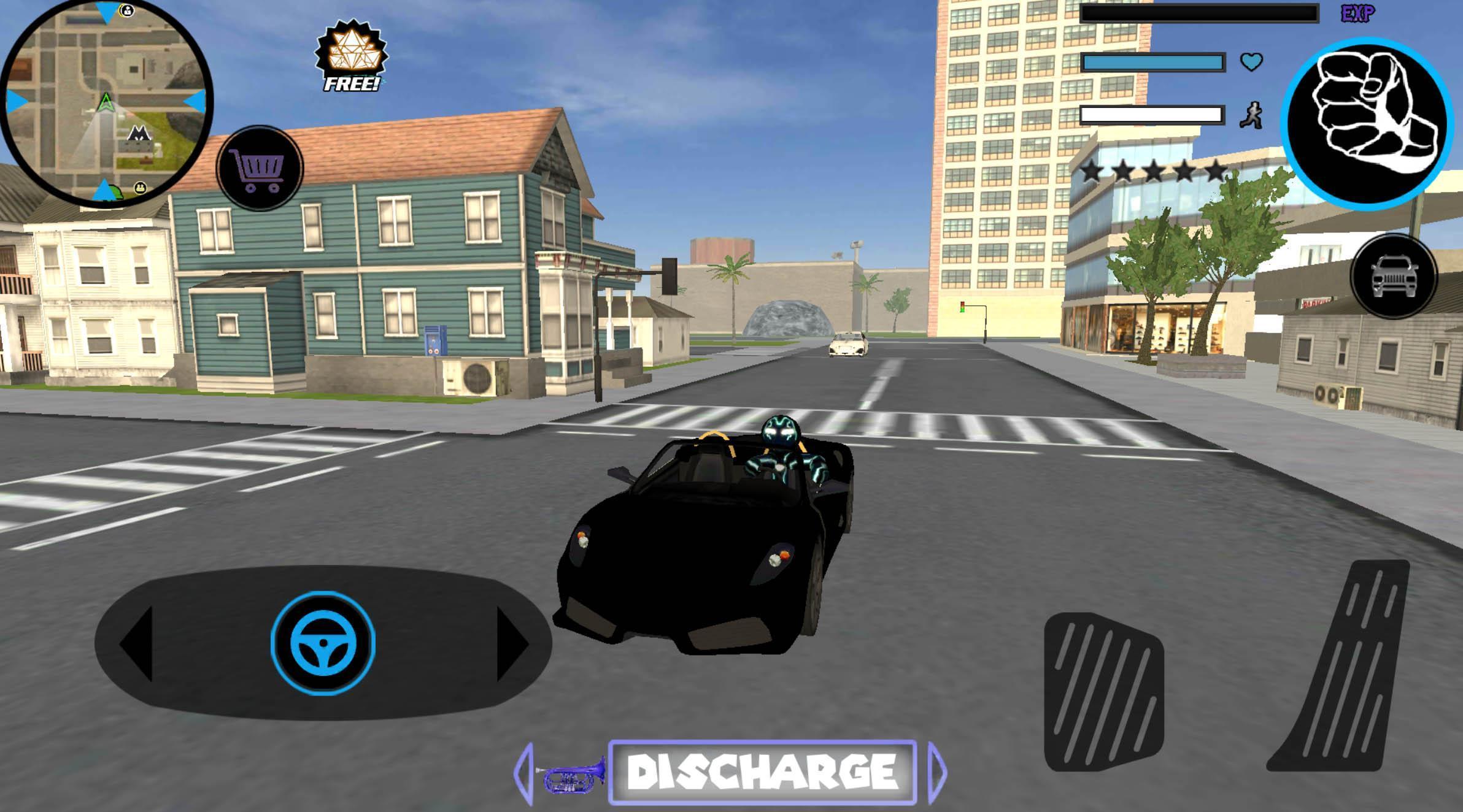 Neon Iron Stickman Rope Hero City Gangstar Mafia 1.6 Screenshot 4