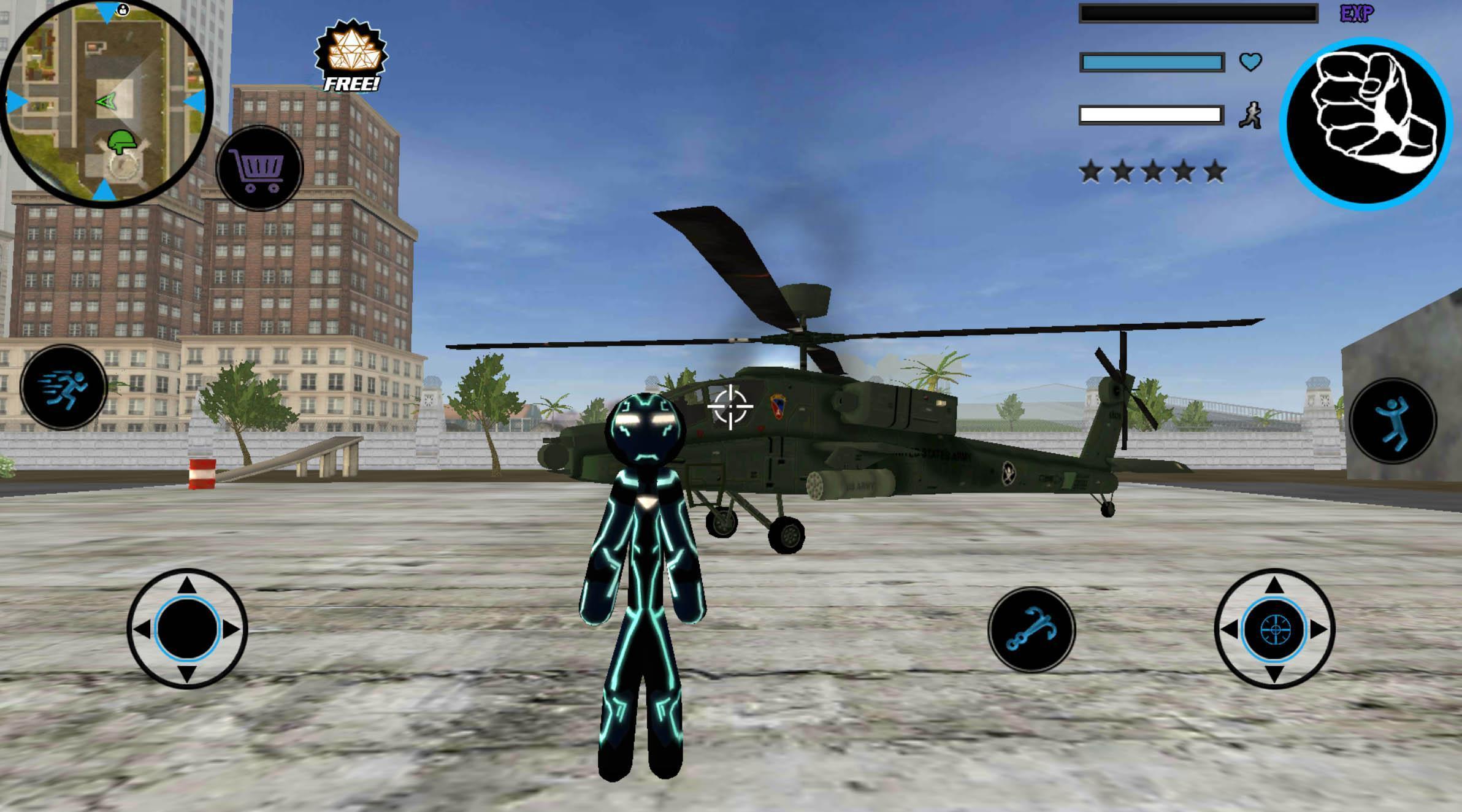 Neon Iron Stickman Rope Hero City Gangstar Mafia 1.6 Screenshot 6