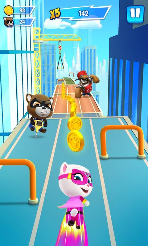 Talking Tom Hero Dash Run Game 1.8.0.1043 Screenshot 1