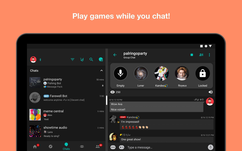 Palringo Group Messenger - chat, play games & more 9.2.1 Screenshot 12