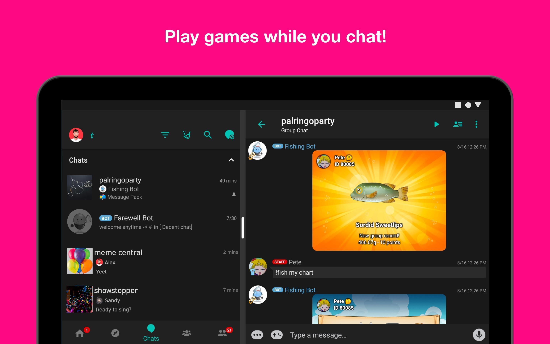 Palringo Group Messenger - chat, play games & more 9.2.1 Screenshot 13