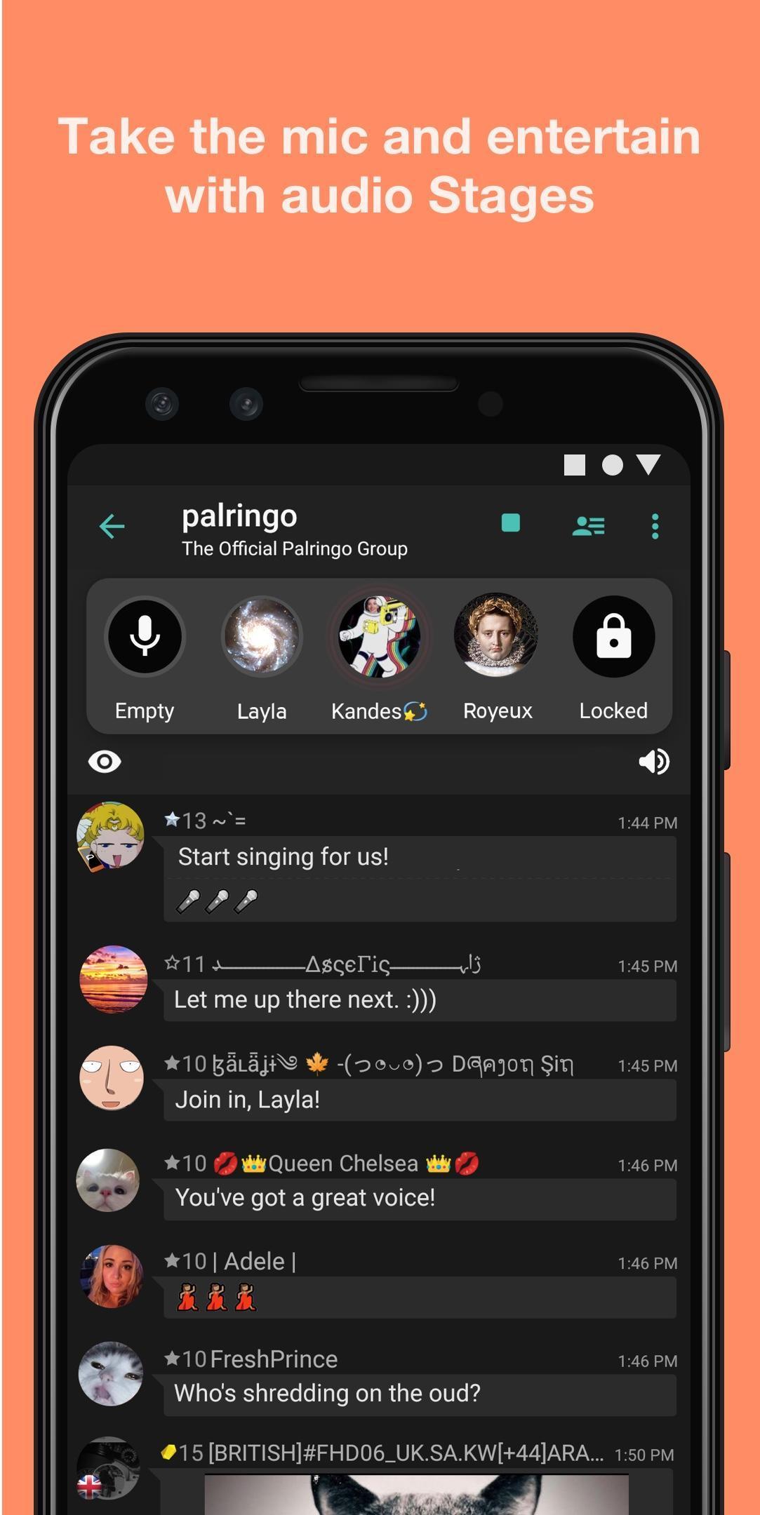 Palringo Group Messenger - chat, play games & more 9.2.1 Screenshot 2