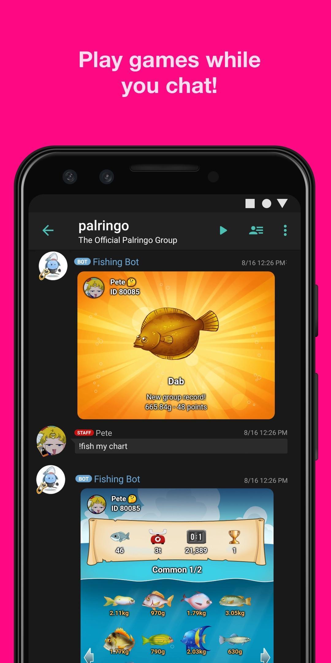 Palringo Group Messenger - chat, play games & more 9.2.1 Screenshot 3