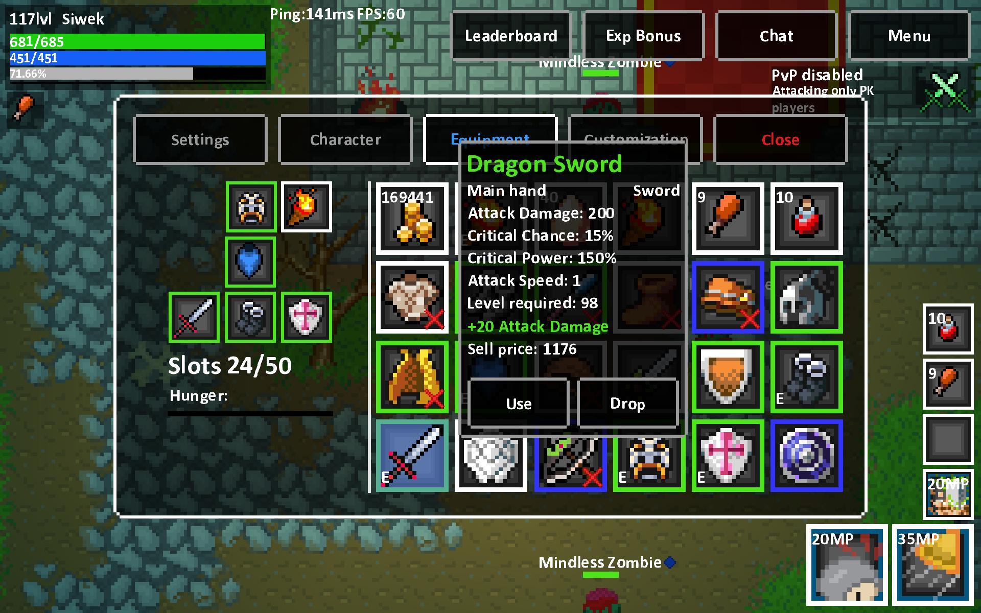 Heroes & Rats MMORPG Online 0.32.2 Screenshot 2