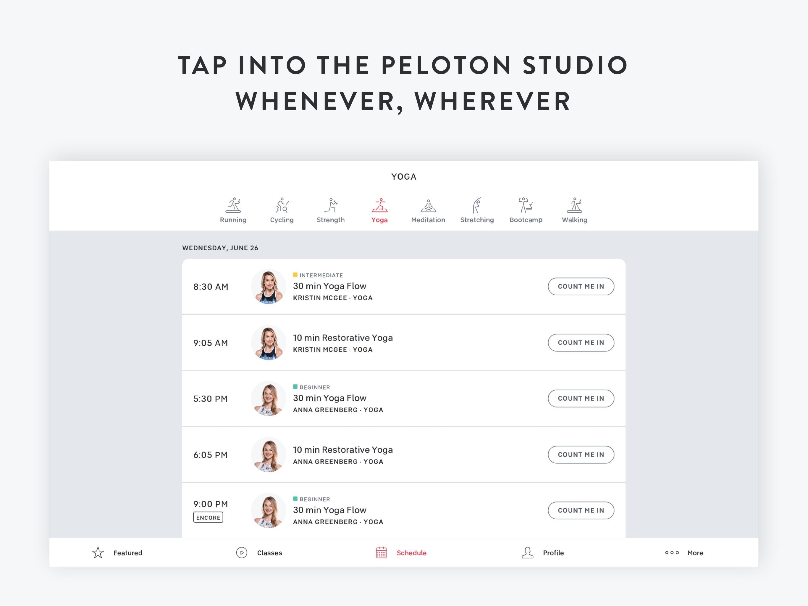 Peloton —  Running, strength, HIIT & yoga classes 1.0.128776 Screenshot 10