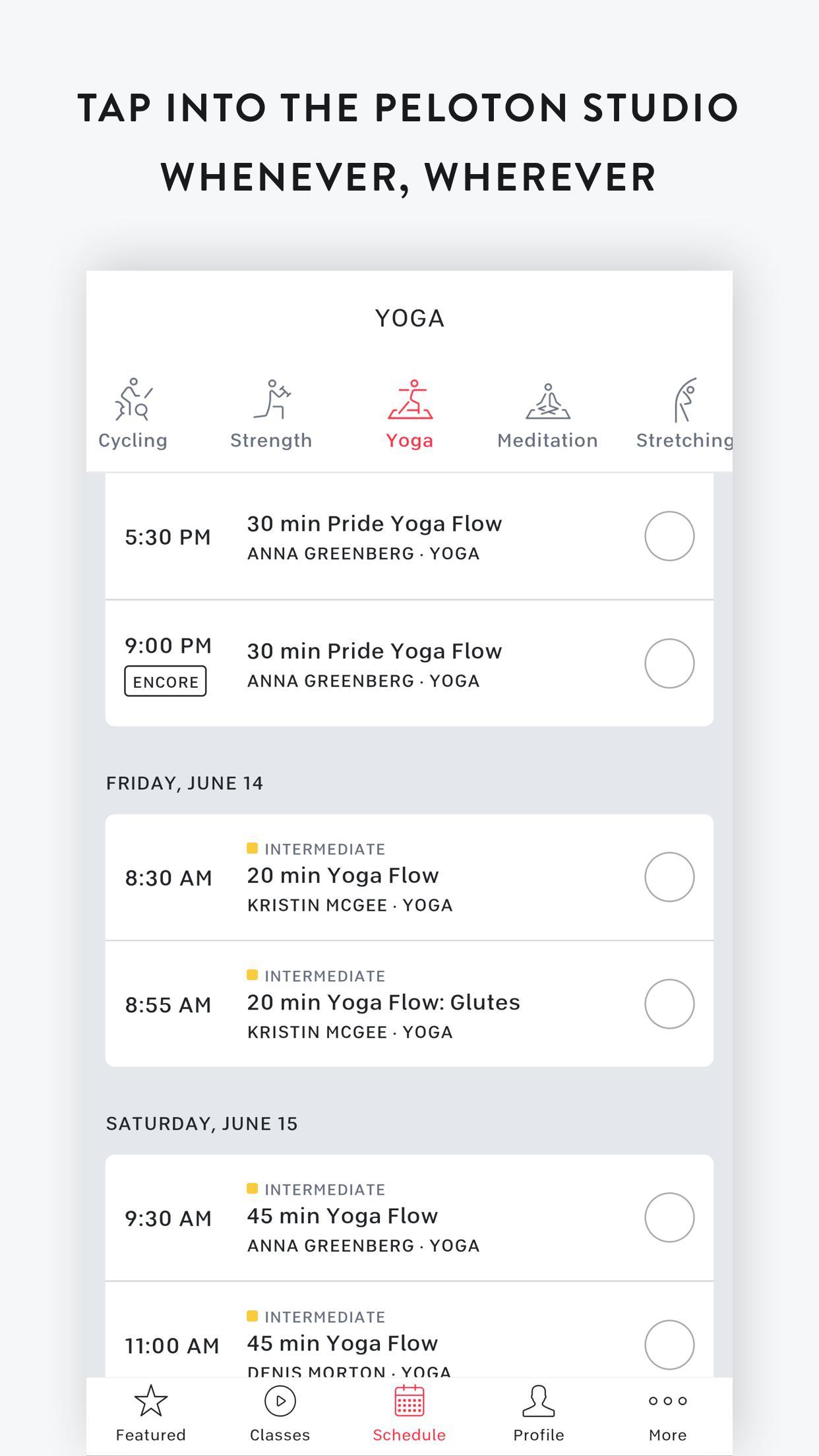 Peloton —  Running, strength, HIIT & yoga classes 1.0.128776 Screenshot 5