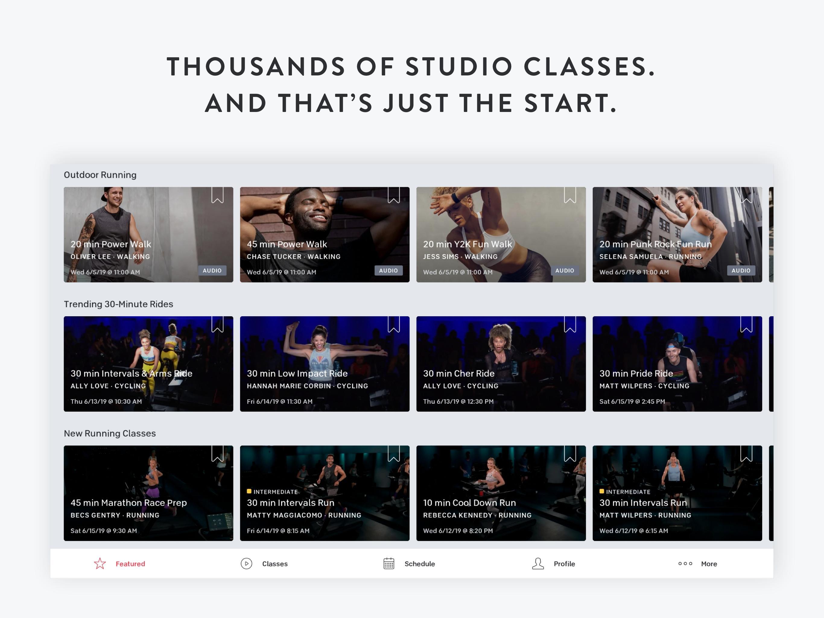 Peloton —  Running, strength, HIIT & yoga classes 1.0.128776 Screenshot 7