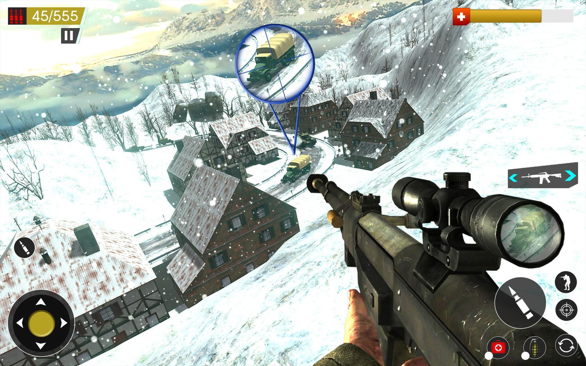 American World War Fps Shooter Free Shooting Games 4.8 Screenshot 17