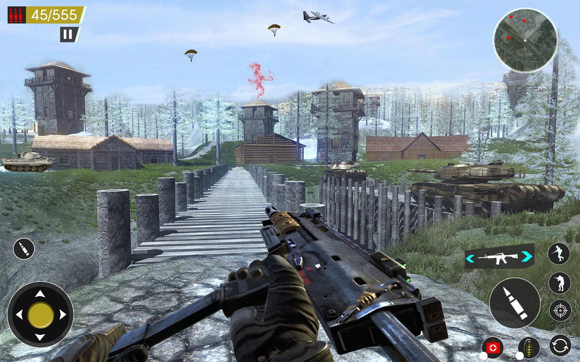 American World War Fps Shooter Free Shooting Games 4.8 Screenshot 19