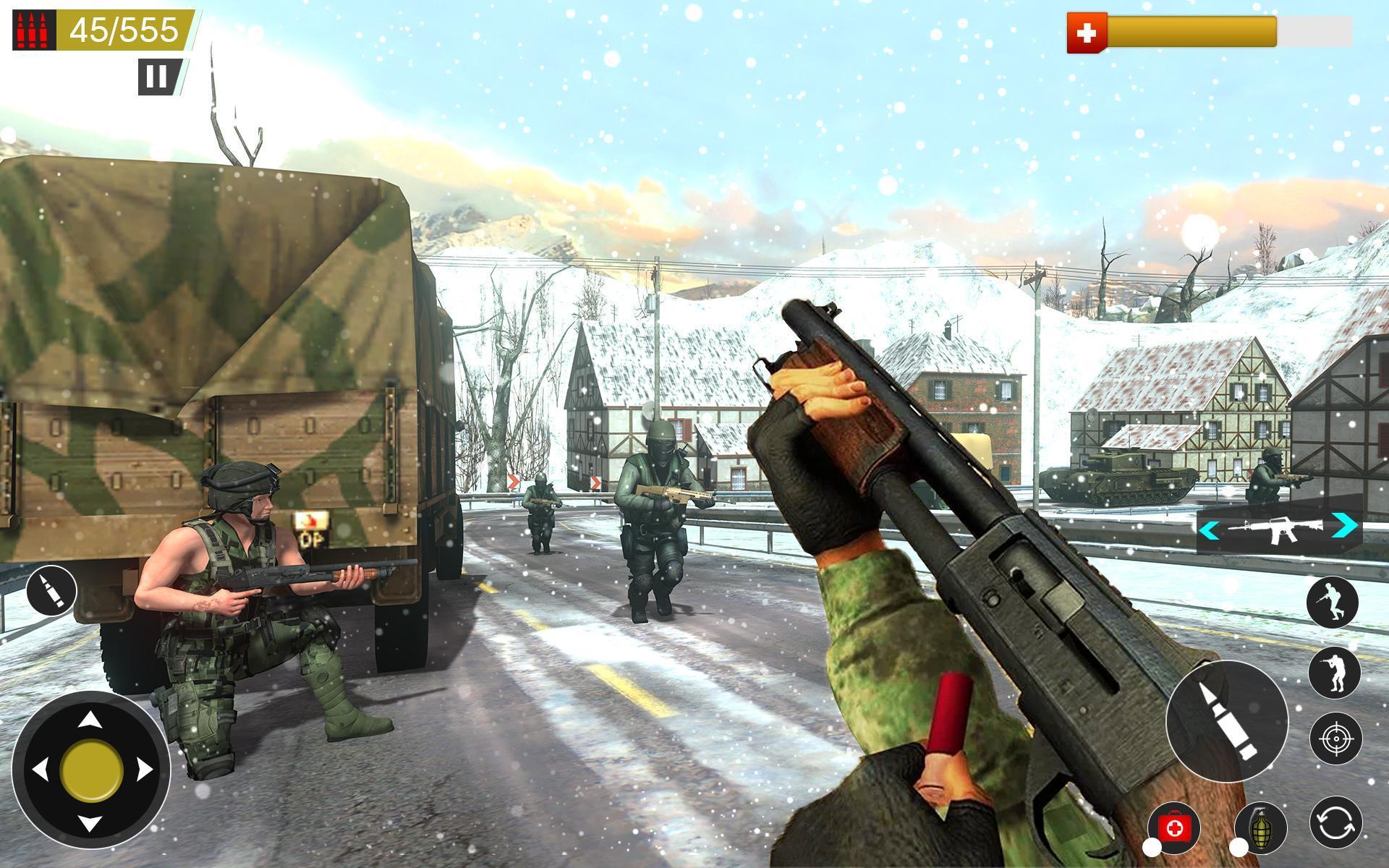 American World War Fps Shooter Free Shooting Games 4.8 Screenshot 2