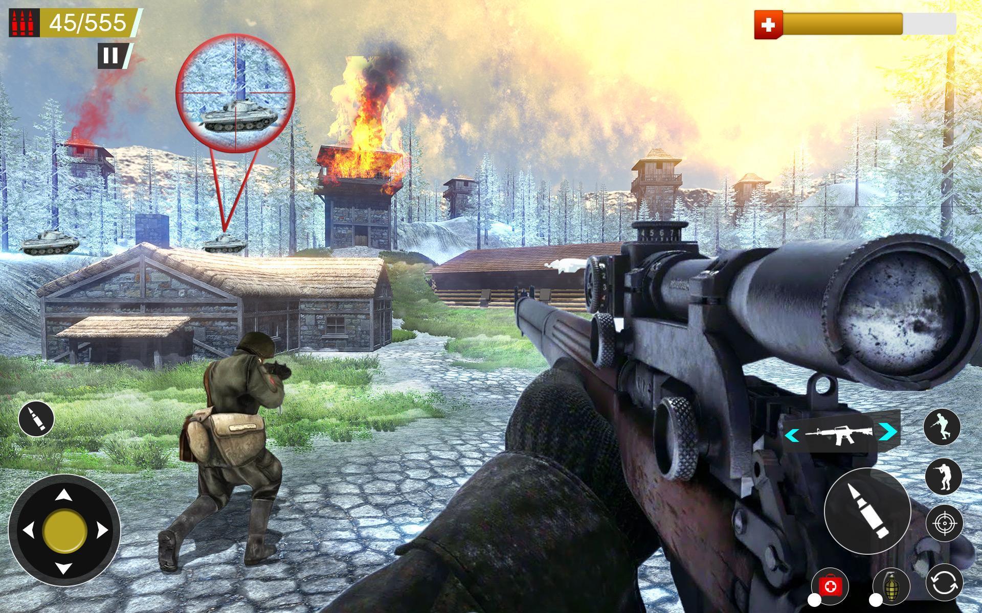 American World War Fps Shooter Free Shooting Games 4.8 Screenshot 4