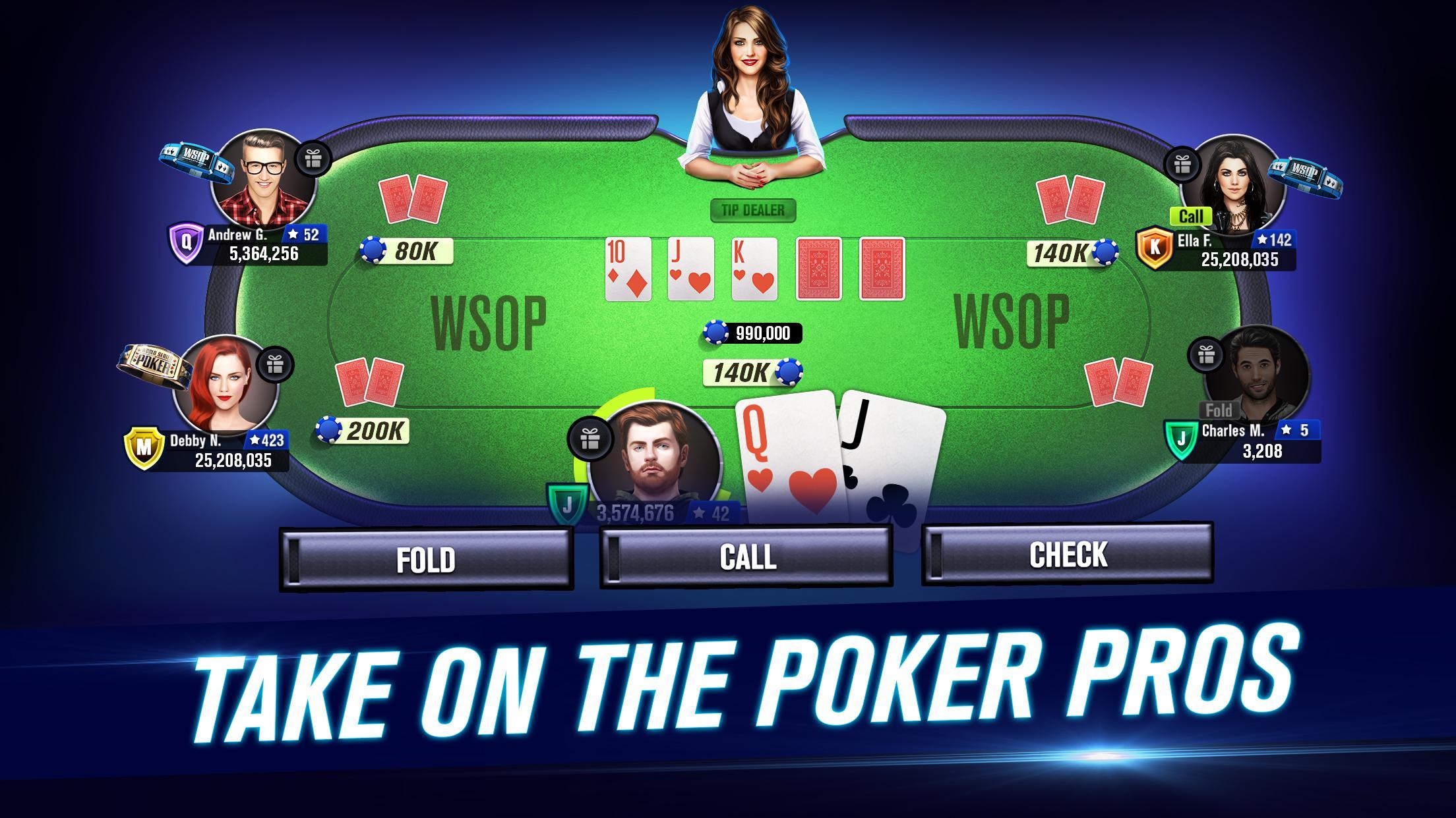 World Series of Poker – WSOP Free Texas Holdem 7.17.0 Screenshot 1