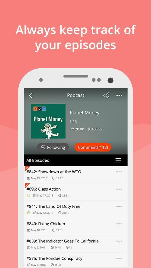 Podcast App & Podcast Player - Podbean 7.5.3 Screenshot 3