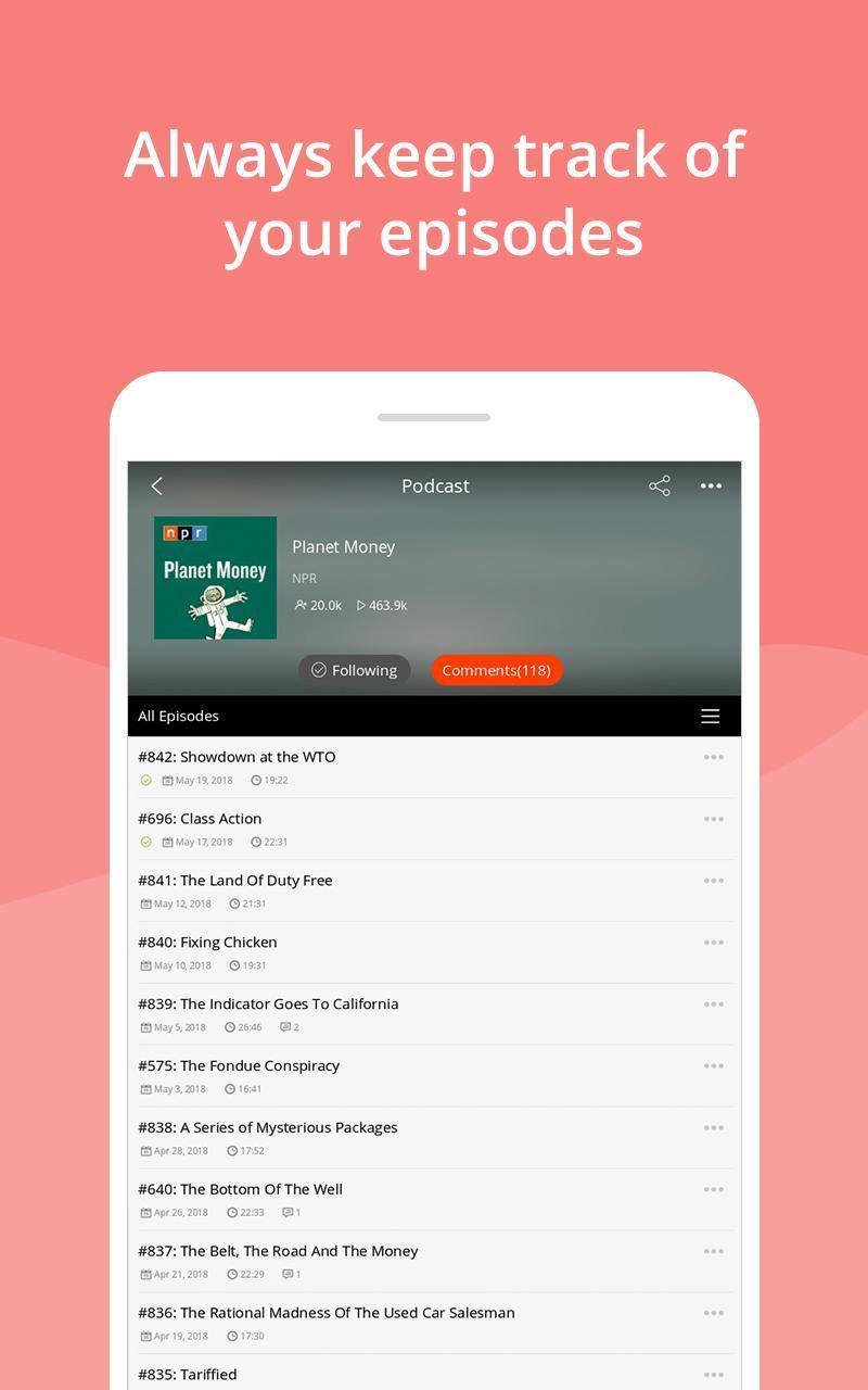 Podcast App & Podcast Player - Podbean 7.5.3 Screenshot 9