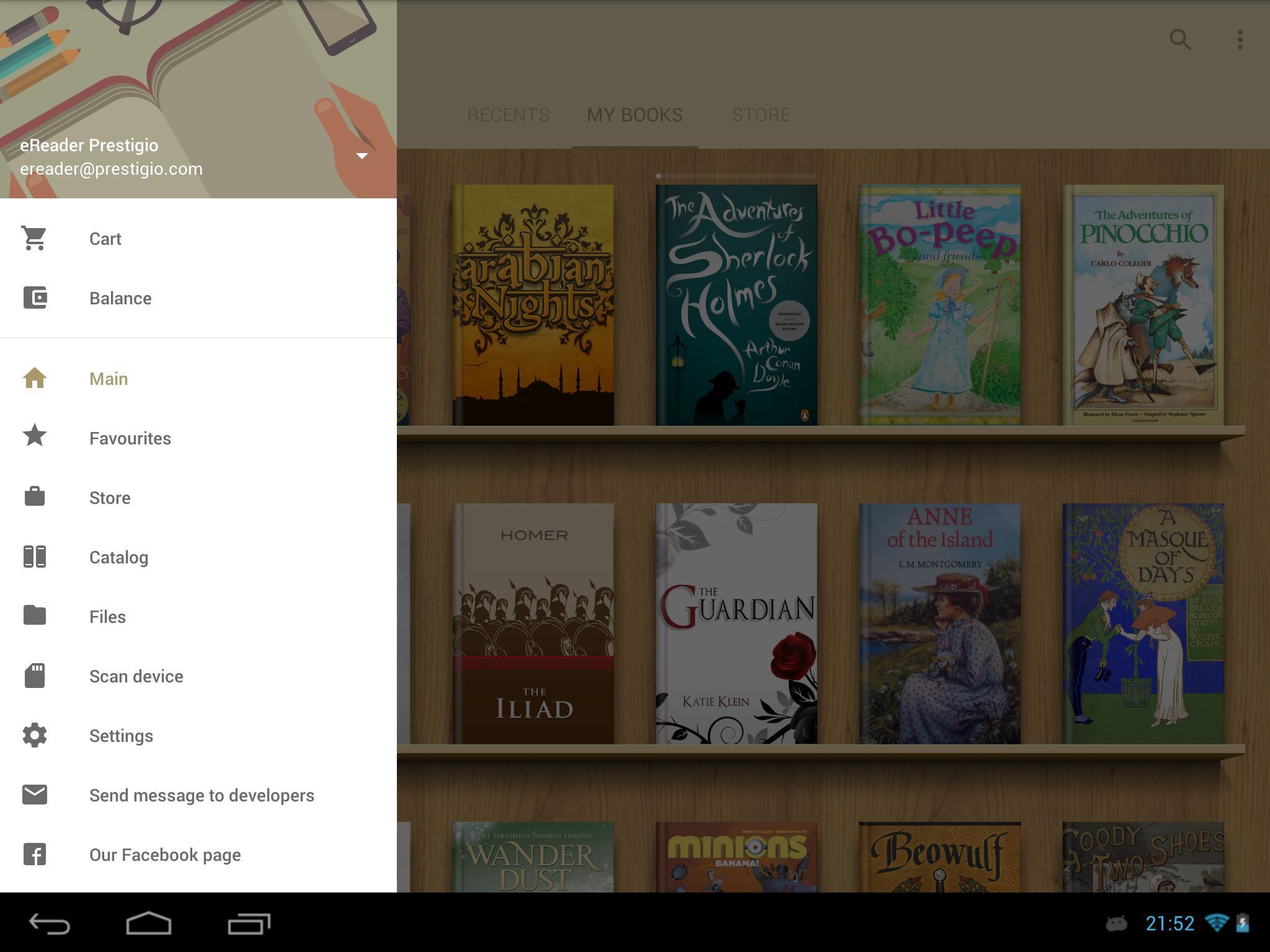eReader Prestigio Book Reader 6.3.0 Screenshot 12