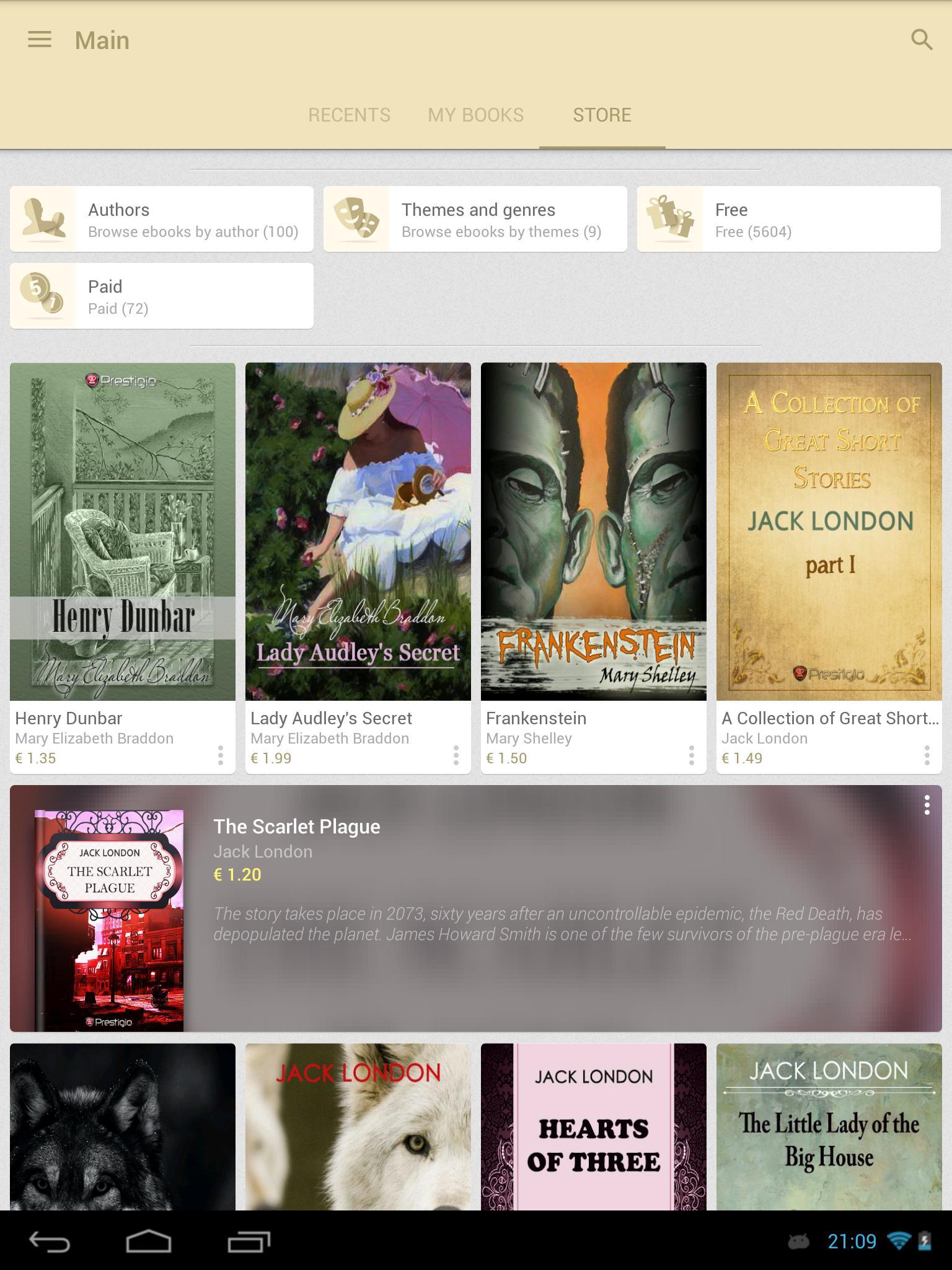 eReader Prestigio Book Reader 6.3.0 Screenshot 23