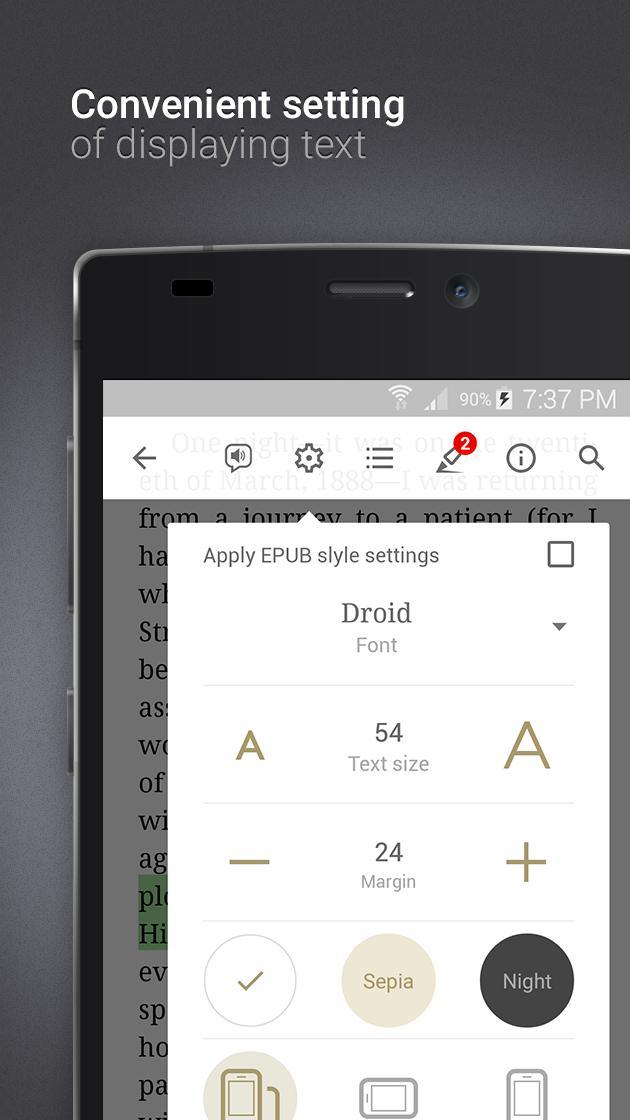 eReader Prestigio Book Reader 6.3.0 Screenshot 4