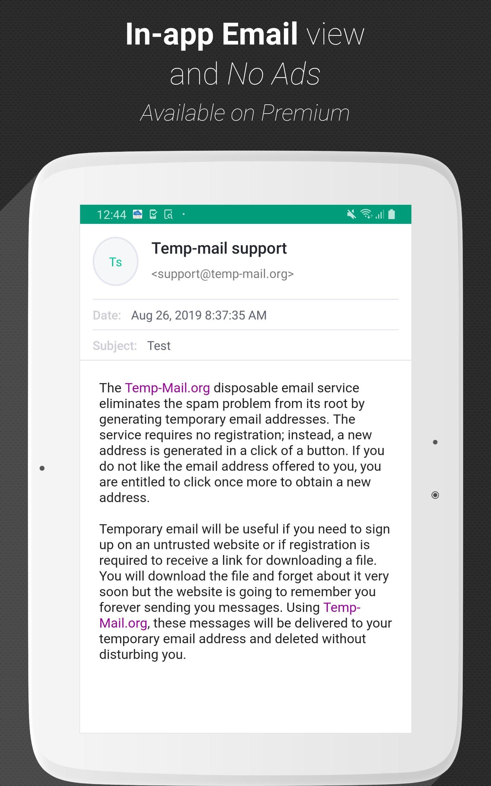 Temp Mail - Temporary Disposable Email 1.76 Screenshot 8