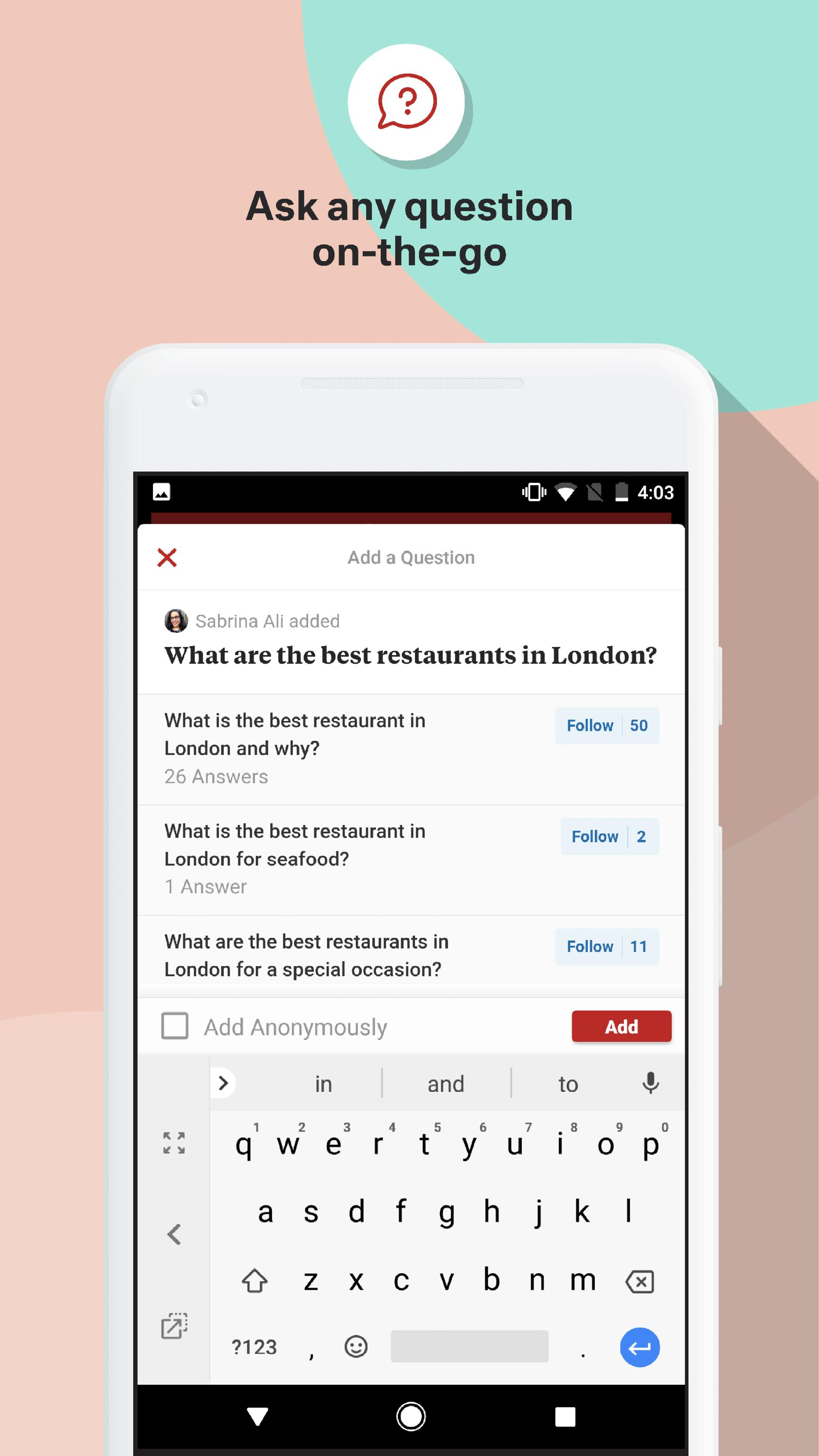 Quora — Questions, Answers, and More 2.8.31 Screenshot 3