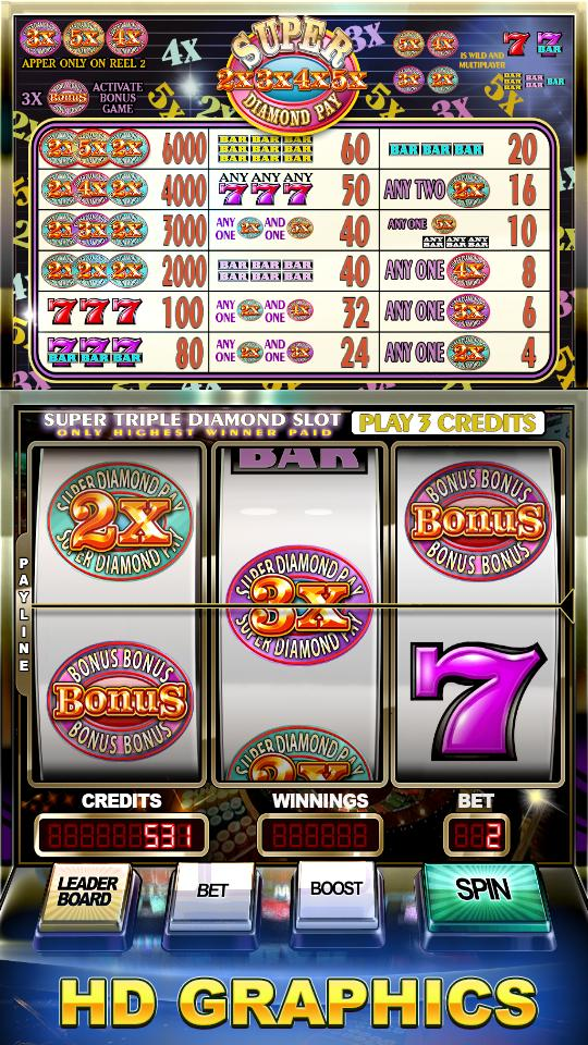 Super Diamond Pay Slots 2.0 Screenshot 1