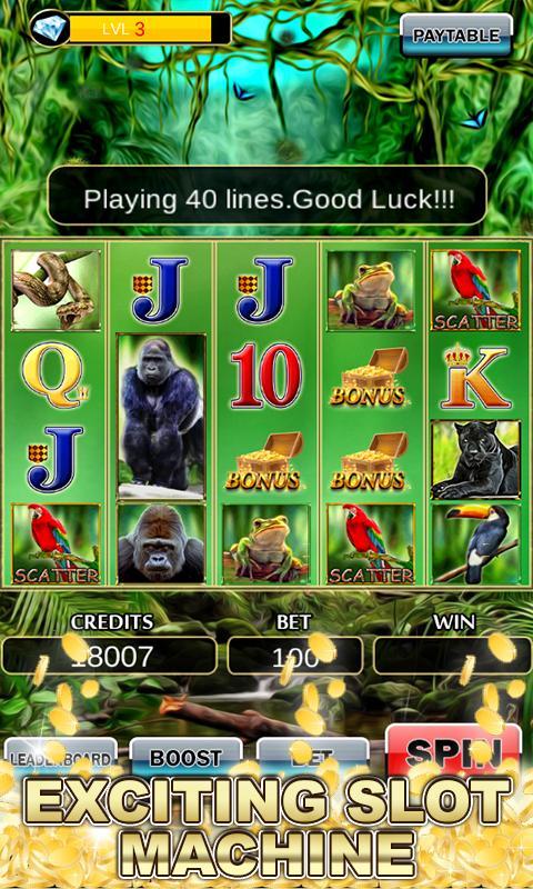 Slot Machine: Wild Gorilla 2.3 Screenshot 1