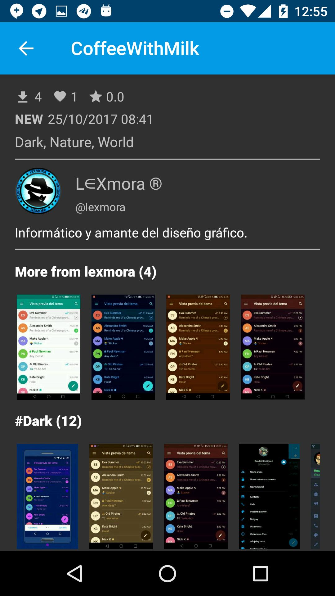 Themes for Telegram 1.2.2 Screenshot 7