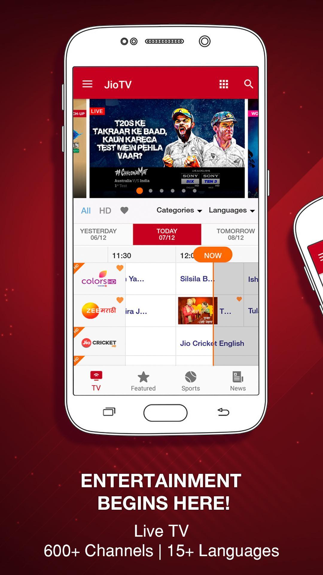 JioTV – LIVE Cricket, TV, Movies 5.8.3 Screenshot 1