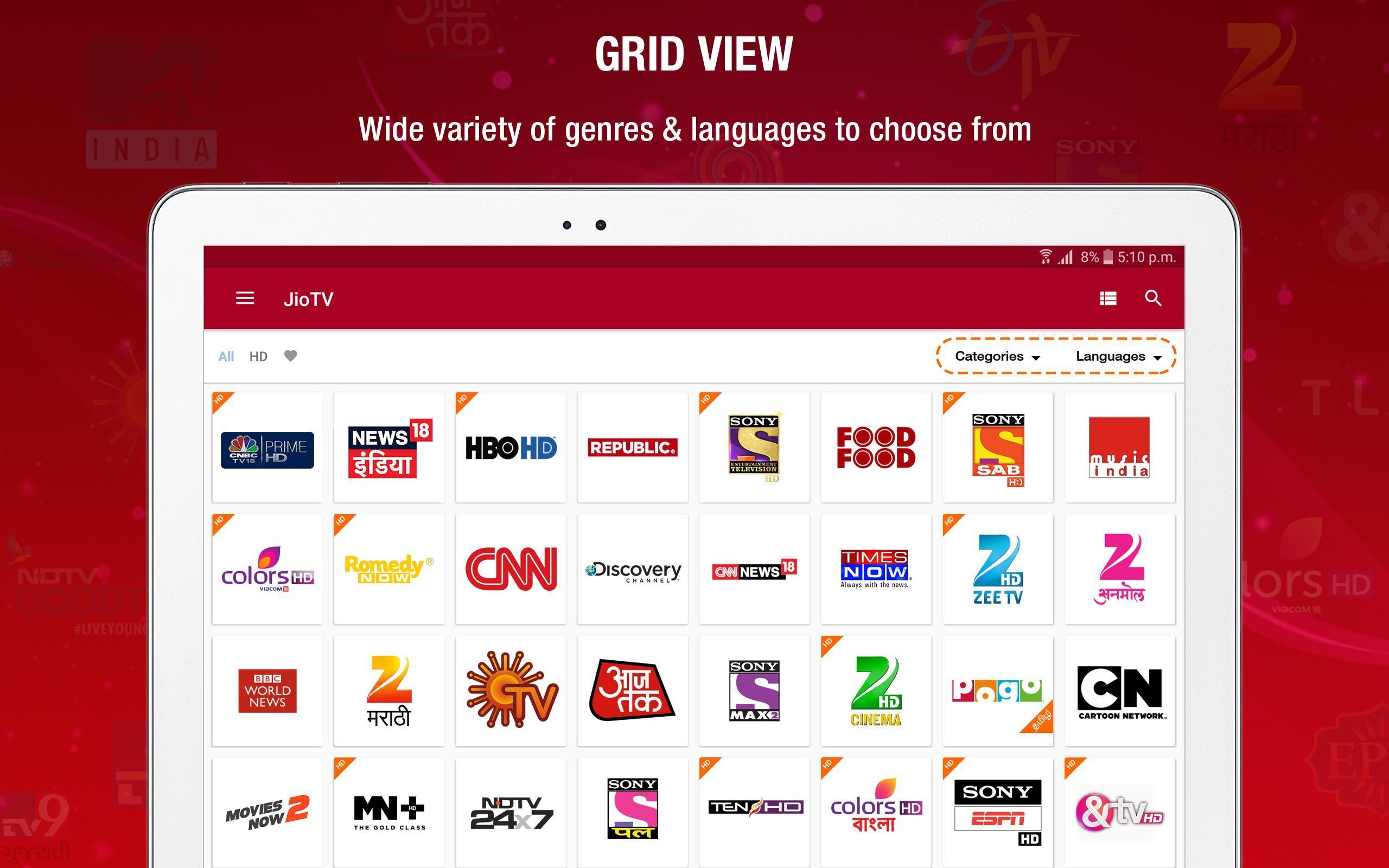 JioTV – LIVE Cricket, TV, Movies 5.8.3 Screenshot 10