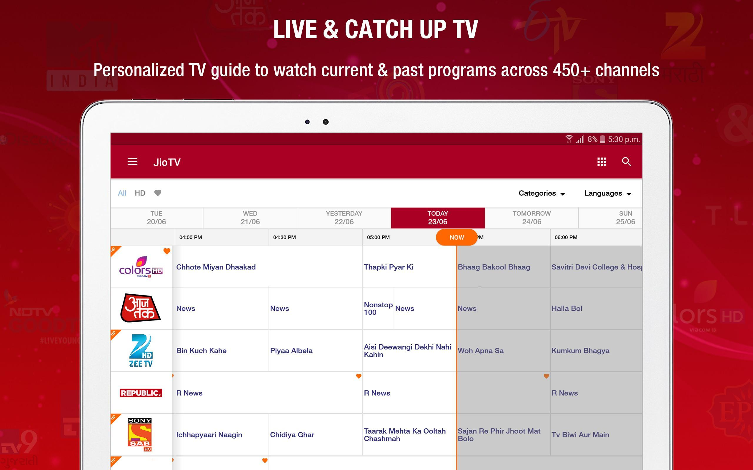 JioTV – LIVE Cricket, TV, Movies 5.8.3 Screenshot 9