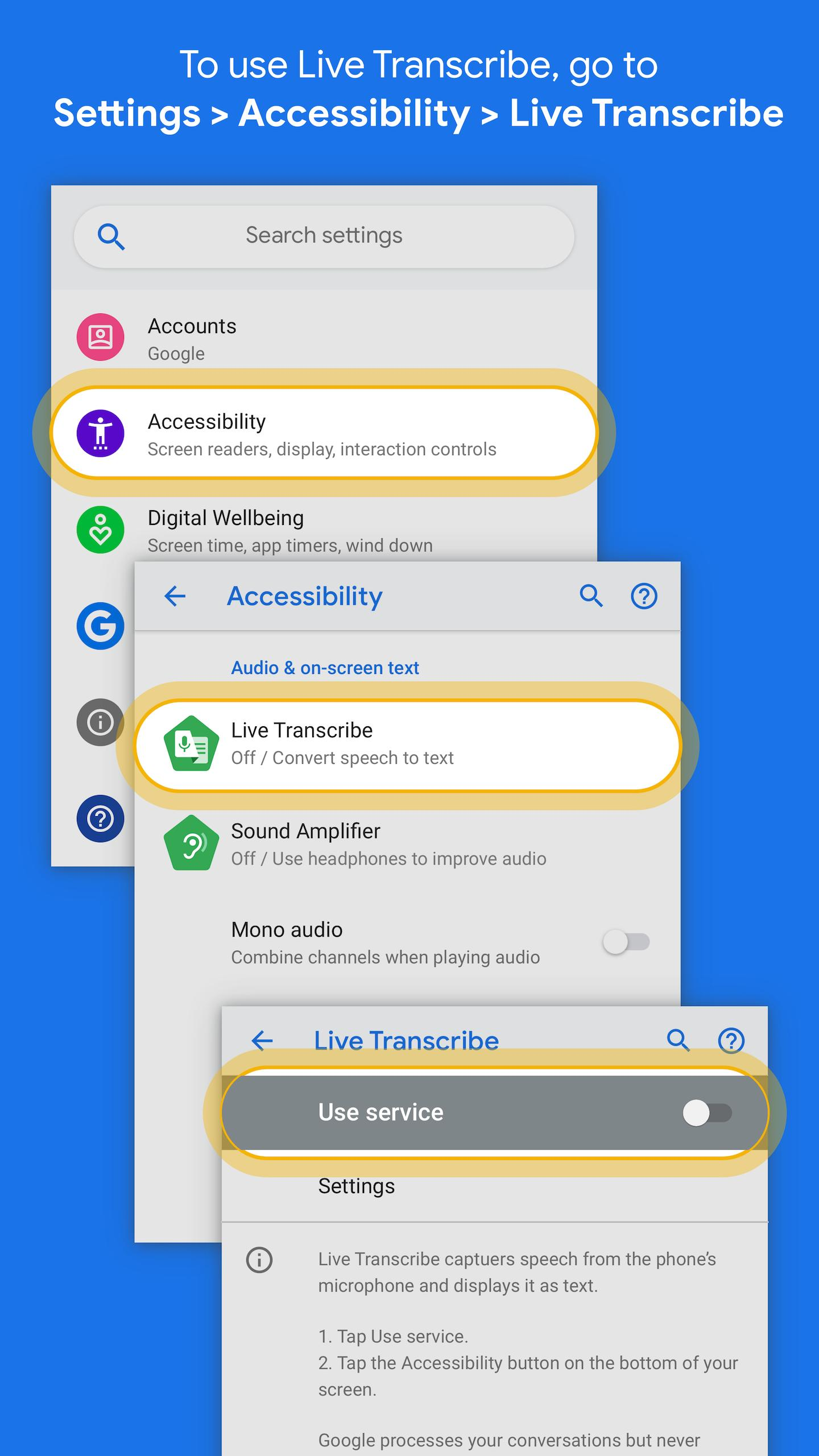 Live Transcribe 2.1.280505551 Screenshot 2