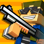 Cops N Robbers - 3D Pixel Craft Gun Shooting Games app icon