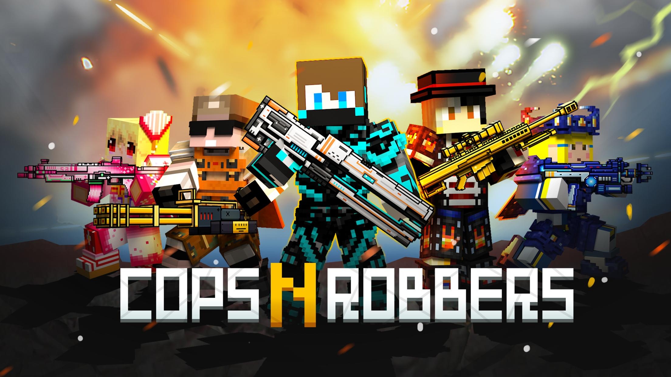 Cops N Robbers - 3D Pixel Craft Gun Shooting Games 9.8.4 Screenshot 1